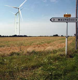 wind turbines dominate mauprevoir